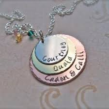 s day necklaces personalized s day gift three disc sted personalized
