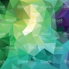 Muster Blau Grün Frische Fr禺hling Blau Gr禺n Polygon Dreieck Muster Hintergrund