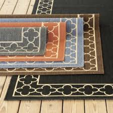 Ballard Designs Kitchen Rugs by Suzanne Kasler Quatrefoil Border Indoor Outdoor Rug Brown Colors