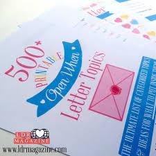 500 open when letter topics ldr magazine