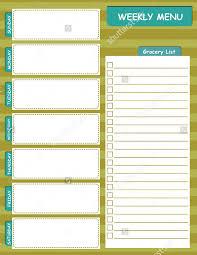 weekly menu templates free weekly menu template 20 free psd eps format free
