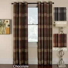 back tab curtains and drapes cooper stripe faux silk wide width