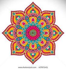 mandala colorido formas florales vector gratis mandalas