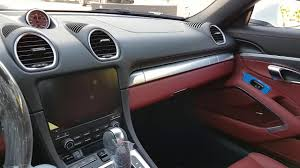 white porsche red interior white 718 boxster with black bordeaux red interior youtube