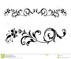 floral renaissance vector 2 royalty free stock images image 2419409