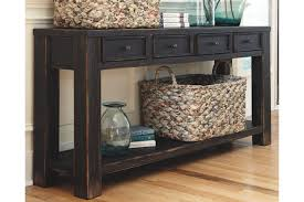 sofa console table long gavelston sofa console table ashley furniture homestore