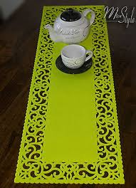 lime green table runner zanaveski collection on ebay