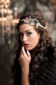 stunning 1920s style great gatsby headband its hand beaded in a