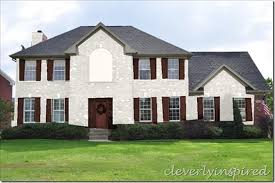 white brick house with brownish trim painted brick houses our