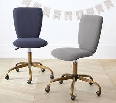 square upholstered desk chair brass base pottery barn kids