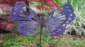 Metal Garden Art Decorative Metal Garden Stakes Metal Butterfly Outdoor Decor