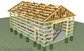 free pole barn plans blueprints chief architect home design software samples gallery