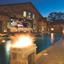 Backyard Outdoor Theater by Mansions Home Movie Theatre Game Room Bowling Alley Mansion Wows