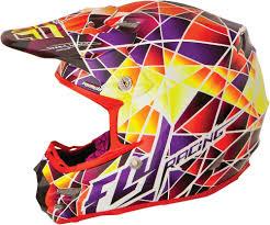 purple motocross helmet 221 58 fly racing formula facet helmet 197983