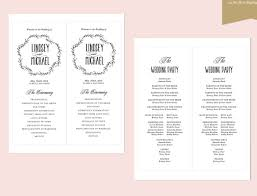 Wedding Booklet Templates Wedding Ceremony Program Template U2013 31 Word Pdf Psd Indesign