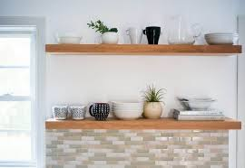 diy kitchen shelves learn how to hang open kitchen shelves floating shelves an easy way