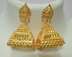 big jhumka gold earrings traditional south indian gold plated big jhumka earrings bridal