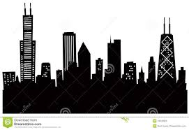 cityscape clipart chicago skyline pencil and in color cityscape