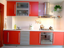 kitchen decorating interior orange paint colors red black and