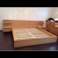malm bed find more ikea double malm bed with side tables for sale at up to 90