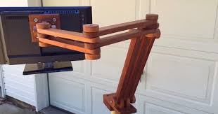 articulating monitor desk mount how to make an articulating monitor mount stand out of black