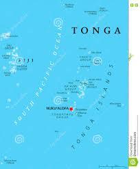 tonga map tonga political map stock photo image 74632455