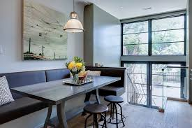 home design cute modern banquette dining room home design modern