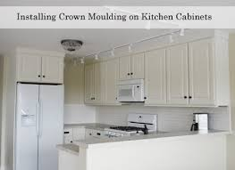 adding crown molding to excellent inspiration ideas kitchen cabinet molding adding crown