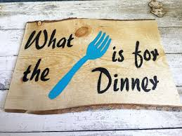 what the fork is for dinner rustic funny wood country kitchen