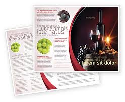 wine brochure template wine bottle brochure template design and layout now