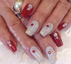 nails design merry christmas beautify themselves with sweet nails