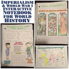 imperialism and world war 1 interactive notebook pages social