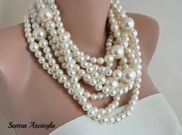 chunky necklace pearl images Pearl necklace multi strand weddings pearl necklace brides jpg
