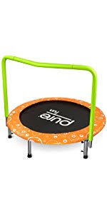Mini Trampoline With Handrail Amazon Com Pure Fun 9008sj Super Jumper Kids Trampoline With