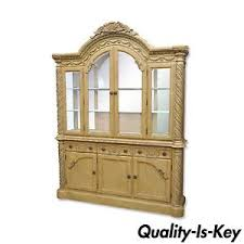 Break Front Cabinet Ashley South Shore Coast Bisque China Cabinet Buffet Breakfront