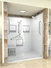Ada Shower Door One Shower With Tile Surround Images Bathroom