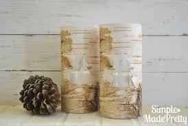 Birch Home Decor Diy Dollar Store Faux Birch Bark Vases Simple Made Pretty