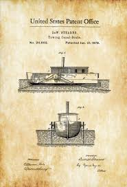 tug boat patent print vintage nautical naval art sailor gift