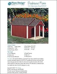 Red Barn Kennel Dog House Pet Kennel Project Plans Gable Double Roof Style With
