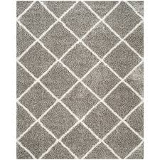 Moroccan Tile Rug Shop Safavieh Hudson Beckham Shag Gray Ivory Rectangular Indoor