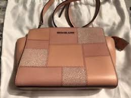 light pink michael kors bag michael kors selma light pink patchwork medium leather bag used ebay