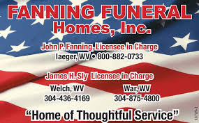 fanning funeral home iaeger wv bluefield daily telegraph newspaper ads classifieds services