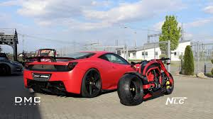 ferrari 458 custom dmc ferrari 458 italia estremo and the twin bike picture 100321