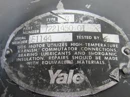 yale 7221450 01 type g 36v electric forklift tug motor ebay