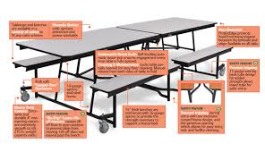 cafeteria benches 8ft rectangular mobile fixed bench tables