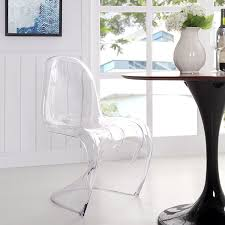 lexmod slither dining side chair clear amazon ca home u0026 kitchen