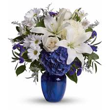 beautiful in blue by teleflora in port hueneme ca floral creations
