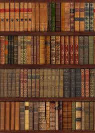 bookcase old books wall mural decor photo wallpaper