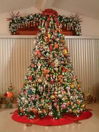 ten foot tree filled with christopher radko ornaments all
