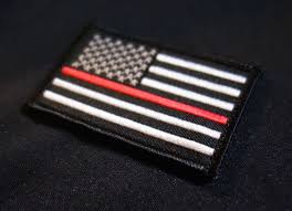 Dominican Republic Flag Patch Firefighter Paramedic Thin Red Line United States Flag Patch
